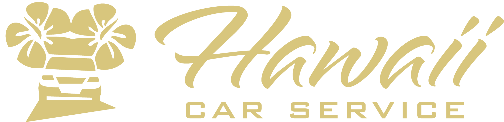 Hawaii Car Service Logo (Gold)